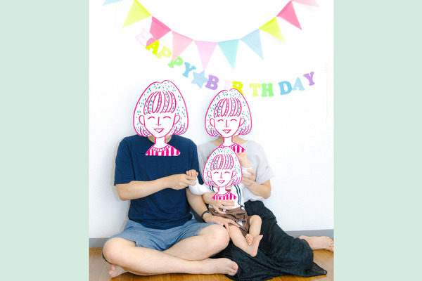 1歳誕生日の写真