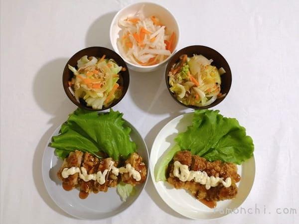 ヨシケイの定番で作った料理の写真