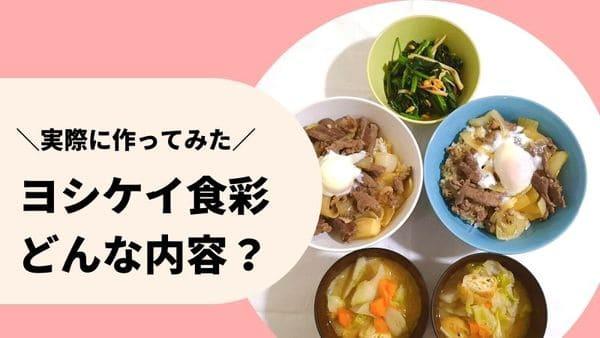 ヨシケイ食彩の調理後の写真