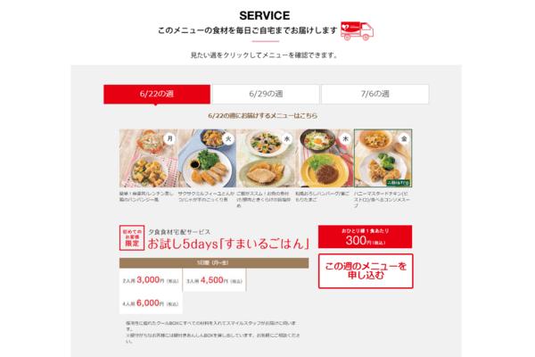 ヨシケイお試しの申込画面
