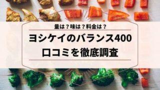 ヨシケイバランス400の料理