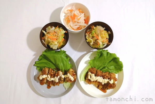 ヨシケイの定番月曜日の調理後の写真