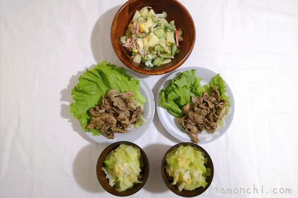 ヨシケイの定番木曜の調理後写真