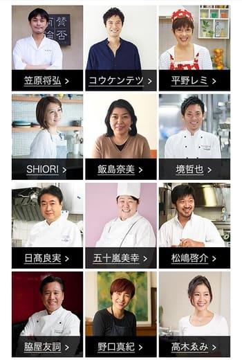 12人のシェフの写真