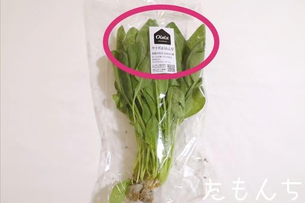 生産者名が書かれた野菜