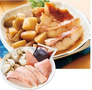 骨取り赤魚と野菜の煮付けの写真