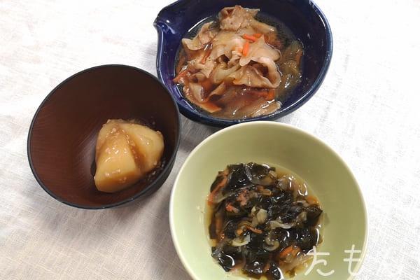 国産豚肉とたまねぎの旨煮の調理後写真